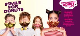#SmileForDonuts i podijeli svoj donut osmijeh za humanitarne organizacije Europe