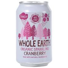 Whole Earth Sok gazirani brusnica eko 330 ml