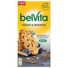 Belvita Keksi sa integralnim žitaricama borovnice i lanene sjemenke 270 g