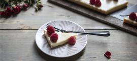 Tart od bijele čokolade s malinama