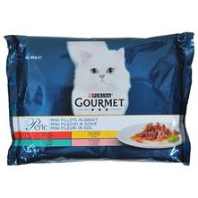 Purina Gourmet Perle Hrana za mačke govedina, zečetina, piletina i losos 4x85 g