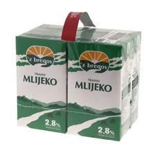 Z bregov Trajno mlijeko 2,8% m.m. 4x1 l