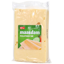 K Plus Maasdam Polutvrdi sir 300 g