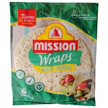 Mission Wraps Tortilje chia sjemenke i kvinoja 6x25 cm 370 g