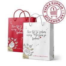 Božićna ukrasna vrećica razne boje 25x8x36,8 cm
