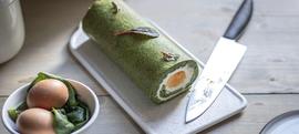 Rolada od špinata punjena cijelim jajima
