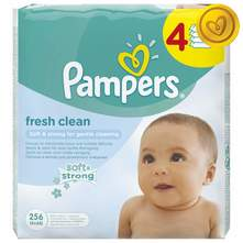 Pampers Fresh Clean Vlažne maramice 4x64 kom