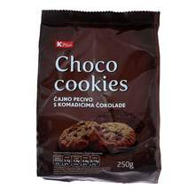 Choco Cookies čajno pecivo K Plus 250 g