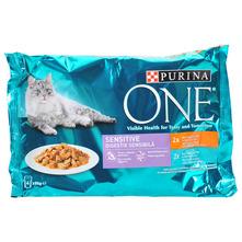 Purina One Sensitive Hrana za mačke piletina/tuna 4x85 g