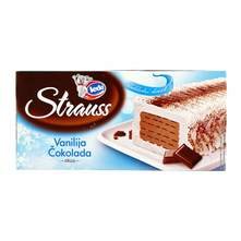 Ledo Strauss Sladoled vanilija čokolada 500 ml