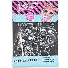 L.O.L. Surprise Bojanka scratch art set
