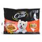 Cesar Hrana za pse piletina, povrtni ragu, govedina i mrkva 4x100 g
