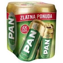 Pan Zlatni Svijetlo pivo 4x0,5 l