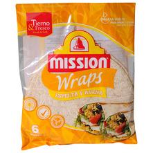 Mission Wraps Tortilje pir i zob 6x25 cm 370 g