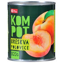 K Plus Kompot breskva polovice 470 g