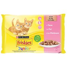 Purina Friskies Junior Hrana za mačke piletina 4x85 g