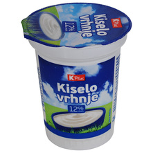 K Plus Kiselo vrhnje 12% m.m. 180 g