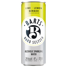 Barts Hard Seltzer Gazirano alkoholno piće sa okusom limete limuna đumbira 330 ml