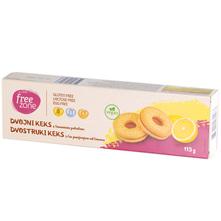 Free Zone Dvostruki keks s punjenjem od limuna bez glutena 115 g