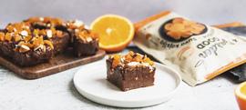 Čokoladne kocke s narančom, bademima i marelicama