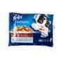 Felix Fantastic Hrana za mačke govedina i piletina u želeu 4x100 g