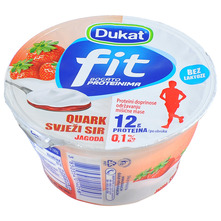 Dukat Fit Quark Svježi sir jagoda 150 g