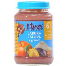 Lino Kašica jabuka i šljiva s grisom 190 g
