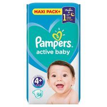 Pampers Active Baby Pelene, veličina 4+ (Maxi+) 10-15 kg 58/1