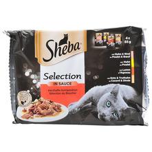 Sheba Selection Potpuna hrana za odrasle mačke govedina/janjetina/piletina/puretina 4x85 g