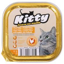 Kitty Hrana za mačke piletina i puretina 100 g