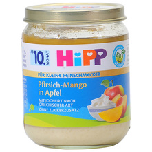 Hipp Kašica jabuka i krem jogurt s mangom i breskvom bio 160 g
