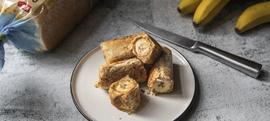 Tost rolice s bananom i maslacem od kikirikija