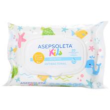 Asepsoleta Kids Antibakterijske vlažne maramice sensitive 20/1