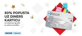 Naruči igračke uz 50% popusta za plaćanje Diners karticom