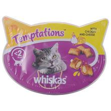 Whiskas Temptations Poslastica za mačke piletina i sir 60 g