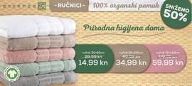 Potražite ručnike od 100% organskog pamuka u Konzumu