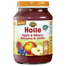 Holle Kašica od jabuke i borovnice eko 190 g