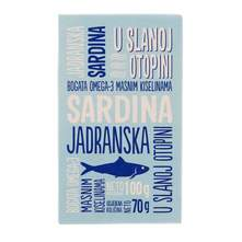 Jadranska sardina u slanoj otopini 70g