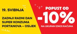 10% popusta na ukupan iznos računa Portanova - Osijek