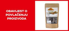 Opoziv i povlačenje kurkume 150g s tržišta