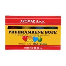 Aromar prehrambene boje 4x10 ml