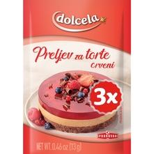 Dolcela preljev za torte crveni 3x13 g
