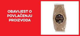 Opoziv i povlačenje proizvoda Sjemnke sezama 200g Fertutecnica s tržišta