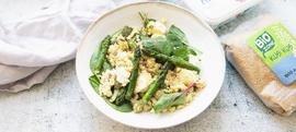 Salata od šparoga i boba s Bio Zone kus kusom i Aretos sirom