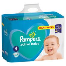 Pampers Active Baby Pelene, veličina 4 (9-14 kg) 90/1