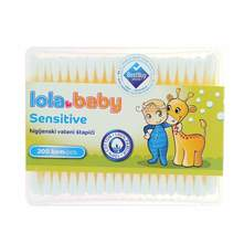 Lola Baby Sensitive Vateni Štapići za uši 200/1