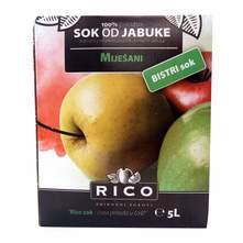 Rico 100% Sok jabuka bistri 5 l