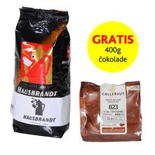 Hausbrandt H.H. Kava u zrnu 500 g + Gratis Callebaut Mliječna čokolada 33,6% 400 g