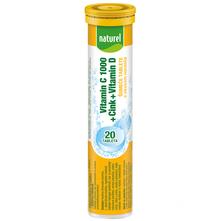 Naturel Vitamin C 1000 + Cink + Vitamin D šumeće tablete s okusom naranče 80 g