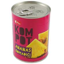 K Plus Kompot ananas komadići 340 g